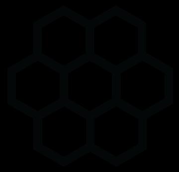 large-honeycomb-flower-symbol-black